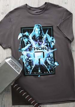 Marvel Saga Thor Adult Charcoal Shirt