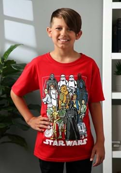 Boys Star Wars Characters Red T-Shirt Update