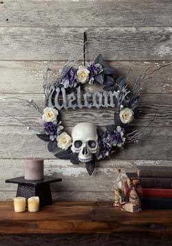 16 Inch Welcome Skull Wreath