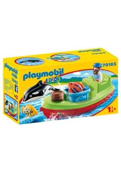 Playmobil Fisherman with Boat Playset