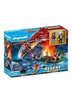 Playmobil Coastal Fire Mission Playset