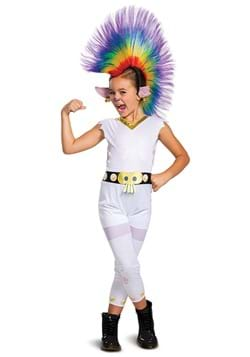Kids Trolls Barb Rainbow Classic Costume with Wig
