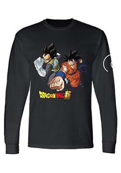 Dragon Ball Super Goku and Vegeta Mens Long Sleeve Shirt