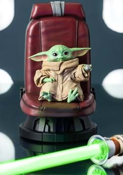 Star Wars The Mandalorian Child in Chair Statue