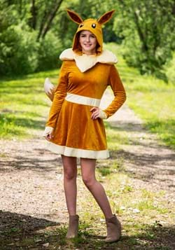 Pokemon Womens Eevee Dress Costume