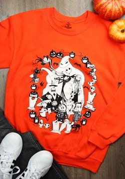 Adult Nightmare Before Christmas Cast Orange Sweatshirt