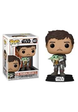 POP Star Wars Mandalorian Mando Holding Child