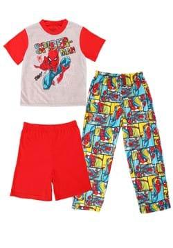 3 Piece Boys Spiderman Menace Sleep Set