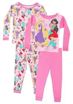 4 Pc Girls Disney Multi Princess Sleep Set