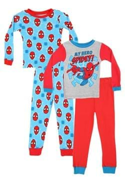 Toddler Boys Spiderman My Hero 4 Pc Sleep Set_Update