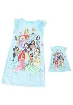 Girls Disney Royal Princess Dorm Nightgown Doll Nightgown