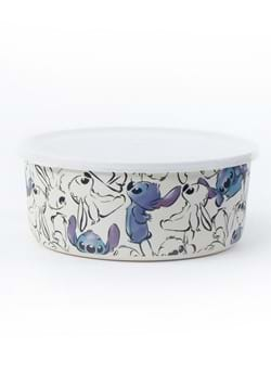 Disney Watercolor Stitch Round Bamboo Storage Container