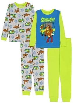4 Pc Boys Scooby Doo Sleep Set