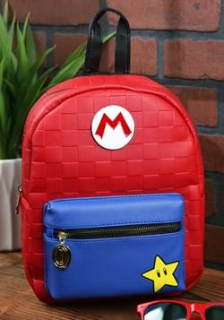 Super Mario Red Checkered Mini Backpack-1
