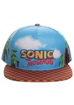 Sonic All Over Print With Embroidery Snapback Hat