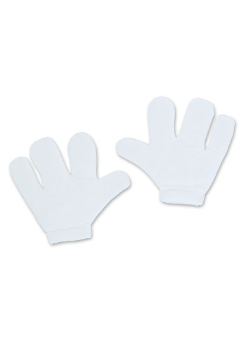 White Cartoon Gloves