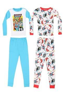 4 Pc Boys Justice League Sleep Set