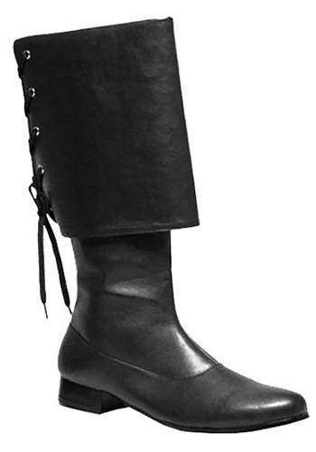 Black Pirate Costume Boots