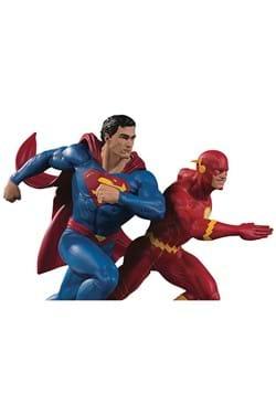 DC Gallery Superman vs. Flash Racing Statue 2nd Ed