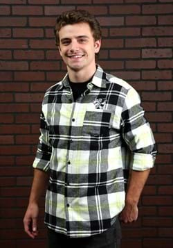 Cakeworthy Beetlejuice Long Sleeve Flannel Shirt for Adults