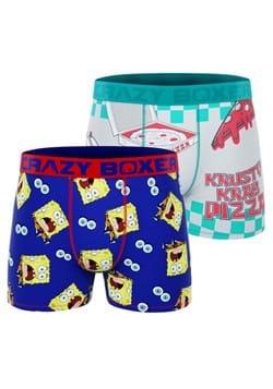 Spongebob 2 Pack Krusty Krab Pizza Boxer Briefs for Men