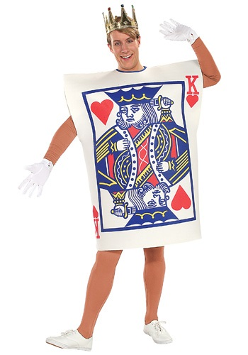 Mens-King of Hearts Card Costume