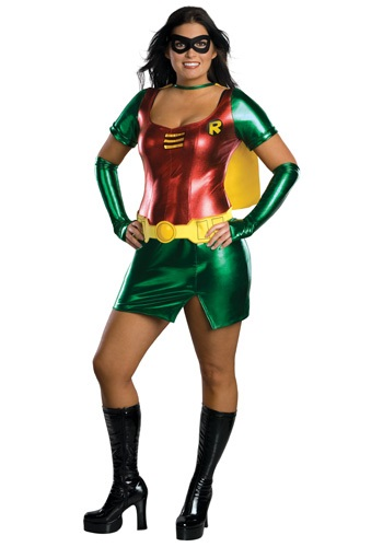 Women's Plus Size Sidekick Robin Costume