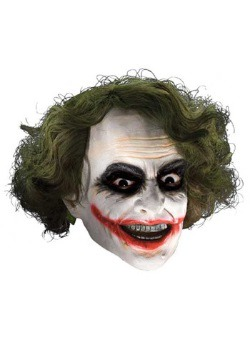 Scary Joker Kids Mask with Hair