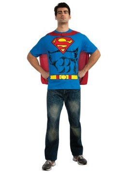 Adult Superman T-Shirt/Cape Costume