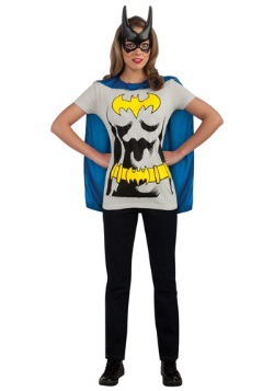 Womens Batgirl T-Shirt with Cape Costume