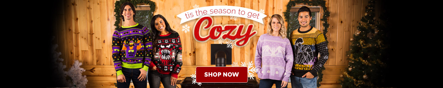 Tis the Season to Get Cozy. Ugly Christmas Sweaters.